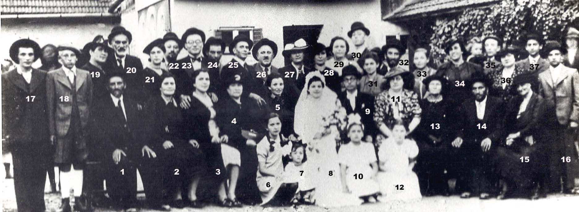 Fried Adolf Abraham and Wertheimer Erzsebet Wedding.